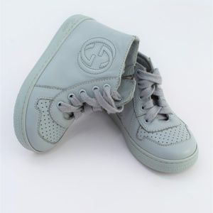 GUCCI Baby High Top Shoe SIZE 22 Gray